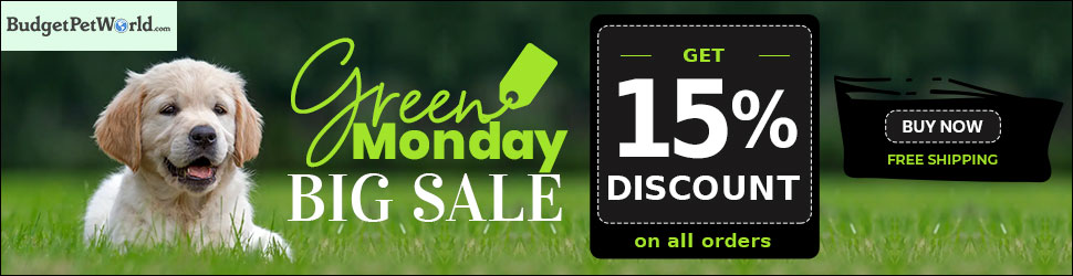 Green Monday Deal is Here! Get Extra 15% Discount on all pet Product. Use Code:GMDYS15