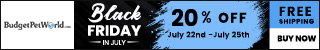 Black Friday in July: Once-A-Year-Deal Brings Extra 20% Discount + Free Shipping on all orders! USE CODE: BUDJUL20