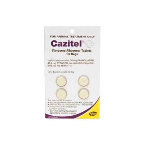 Cazitel Flavoured Allwormer Dogs 10kg 2 Tablet