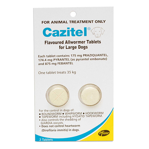 Cazitel Flavoured Allwormer Dogs 35Kgs