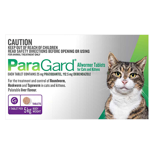 Paragard Wormer for Cats 5kg (11 lbs)