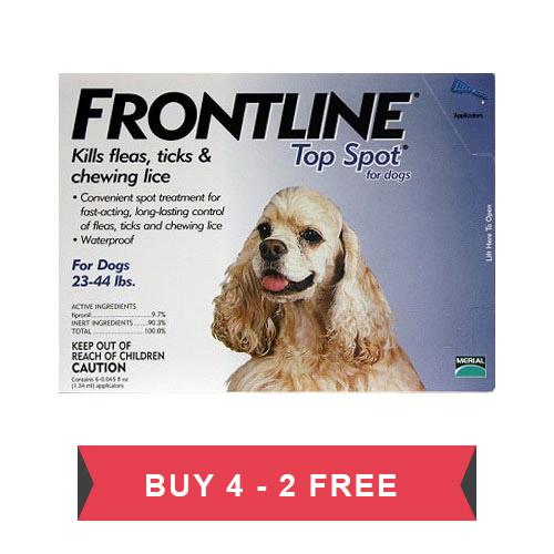 Frontline Top Spot Medium Dogs 23-44lbs (Blue) - Clearance Sale