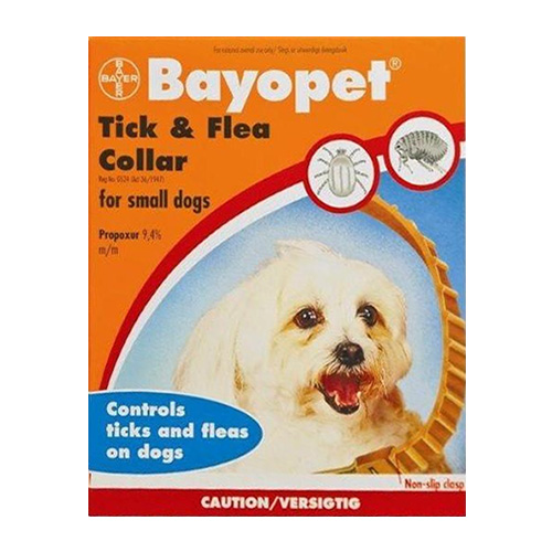 Bayopet Tick and Flea Collar for Small Dogs 1 Pack