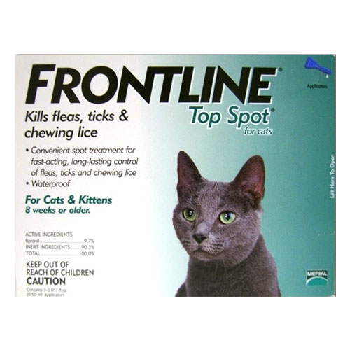Frontline Top Spot Cats (Green) 4 Pipette + 4 Pipette Free