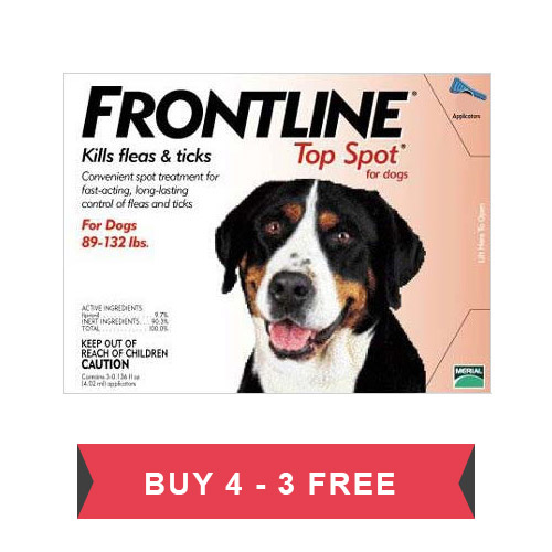 Frontline Top Spot Extra Large Dogs 89-132lbs (Red) - Clearance Sale