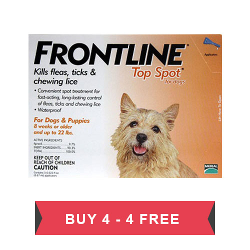 Frontline Top Spot Small Dogs 0-22 lbs (Orange)