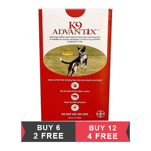 K9 Advantix Large Dogs 21-55 lbs (Red)