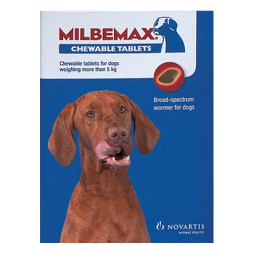 Milbemax Chewable For Large Dogs 5-25 Kgs - 2 Chews