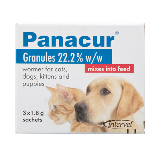 Panacur Worming Granules for Dogs 1.8 gm 12 Sachet