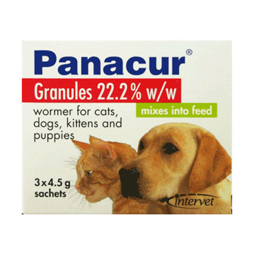 Panacur Worming Granules for Cats 4.5 gm 3 Sachet