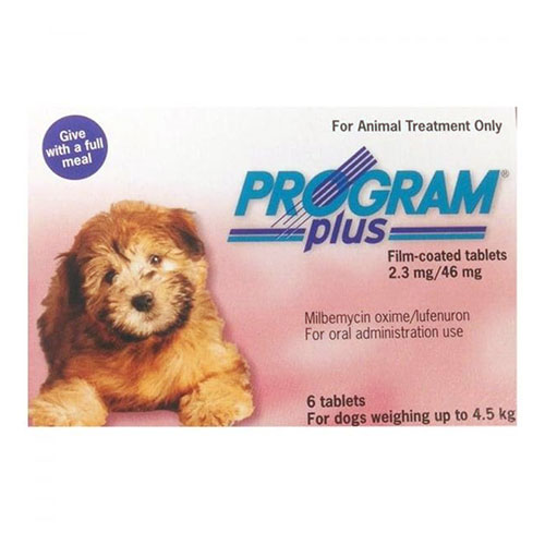 Program Plus for Dogs 1 - 10 lbs (Pink) 12 Tablet