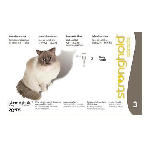 Stronghold Large Cats 7.5 Kg -10 Kg 60 mg (Grey)
