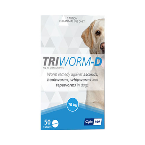 Triworm-D Dewormer for Dogs 8 Tablet