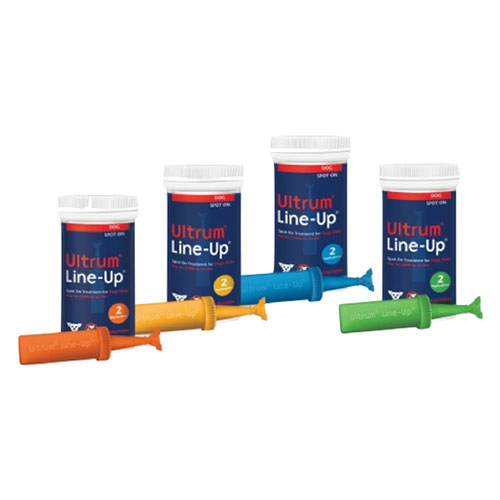 Ultrum Line-Up Spot On for Large Dogs 44-88 lbs (Yellow) 2 Pack