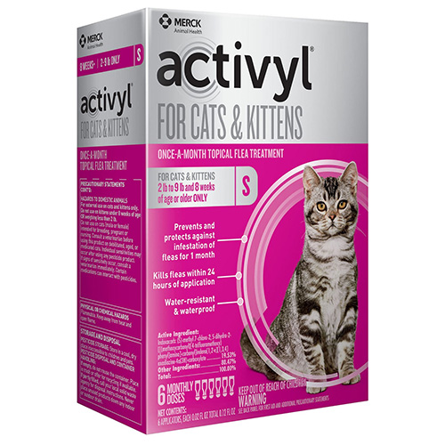 Activyl For Cats and Kittens up to 9 lbs Orange 4 Pack