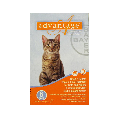 Advantage Kittens & Small Cats 1-10lbs 6 + 2 Doses Free
