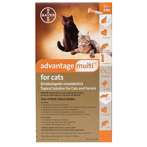 Advantage Multi (Advocate) Kittens & Small Cats up to 10lbs (Orange) 6 Doses