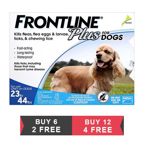 Frontline Plus for Medium Dogs 23-44 lbs (Blue)