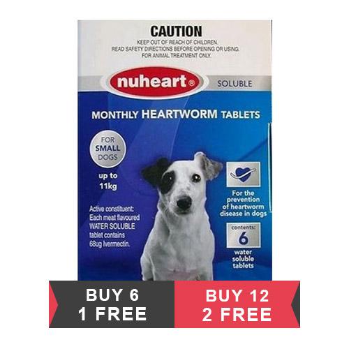 Heartgard Plus Generic Nuheart Small Dogs upto 25lbs (Blue)