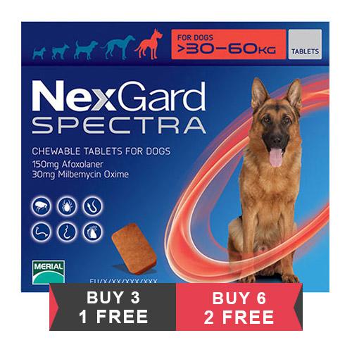 Nexgard Spectra Tab Xlarge Dog 66-132 lbs Red