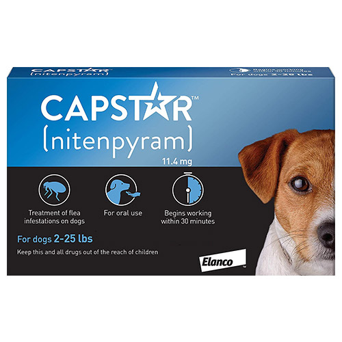 Capstar Small Dog 11mg 2-25 lbs Blue