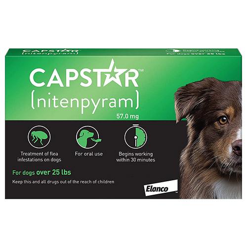 Capstar Large Dog 57 mg 25.1-125 lbs Green
