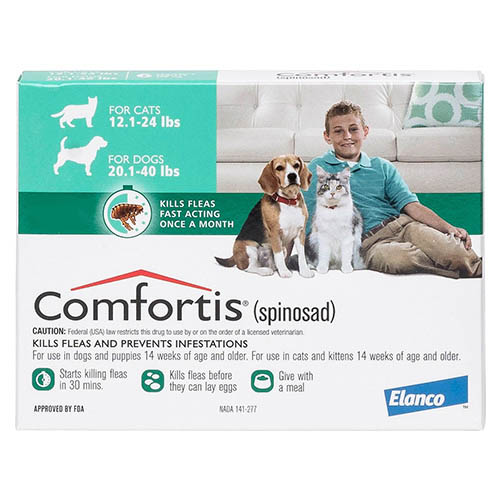 Comfortis Green For Dogs 9 - 18kg (20 - 40lbs)