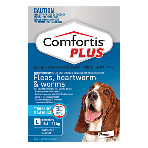 Comfortis Plus For Large Dogs 18.1-27 Kg (40.1 - 60 lbs) Blue
