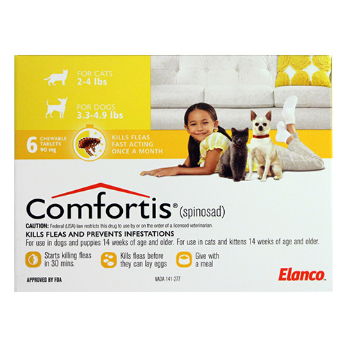 Comfortis for Small Cats 4 - 6lbs (1.9-2.8 kg) Yellow