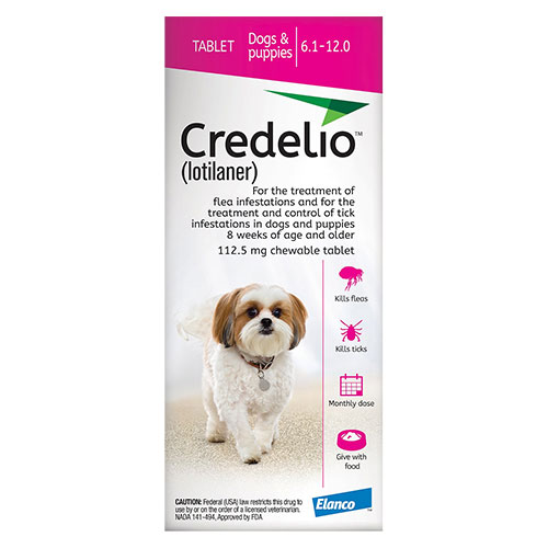 Credelio for Dogs 06 to 12 lbs (112.5mg) Pink - Expiry Aug 2021