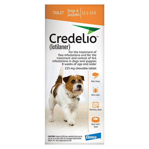 Credelio for Dogs 12 to 25 lbs (225mg) Orange - Expiry Aug 2021