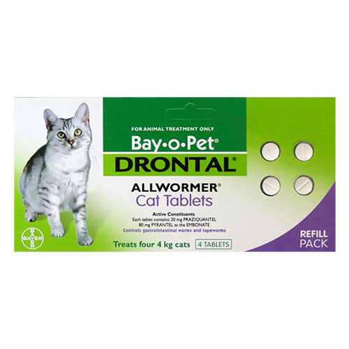 Drontal Cats upto 4Kg 2 Tablet