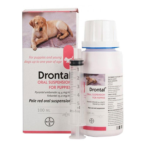 Drontal Plus Puppy Worming Suspension 100 Ml