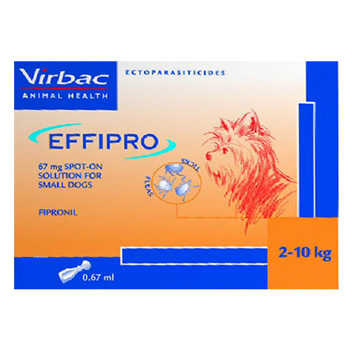 Effipro Spot-On for Dogs up to 22 lbs (Small) 12 Pack