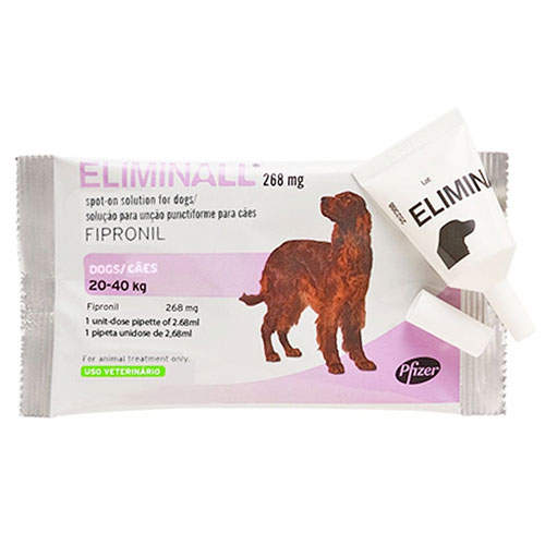 Eliminall Spot On for Dogs 45 to 88 lbs. (Pink) 12 Pack