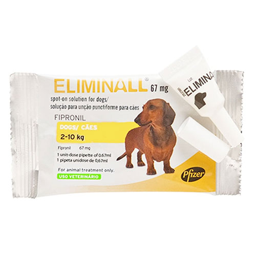 Eliminall Spot On for Dogs up to 22 lbs. (Yellow) 3 Pack