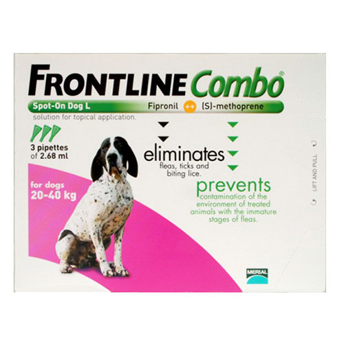 Frontline Plus (COMBO) for Large Dogs 45-88 lbs (Purple) 6 Pipette