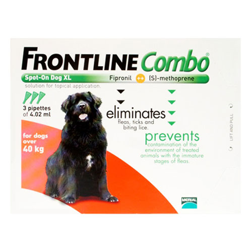 Frontline Plus (COMBO) for Extra Large Dogs over 89 lbs (Red) 3 Pipette