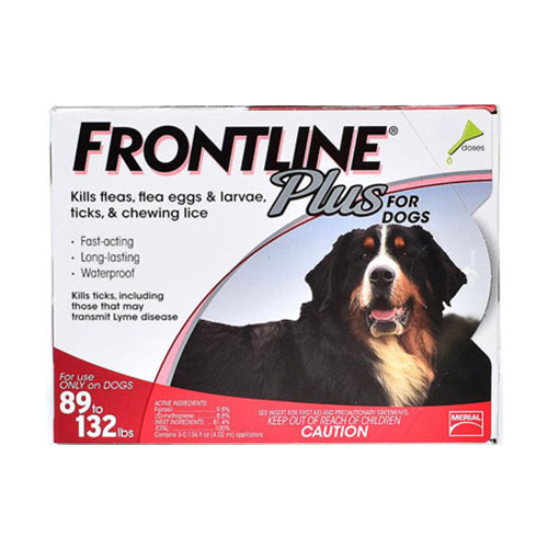Frontline Plus Extra Large Dogs over 89 lbs (Red) 6 Doses