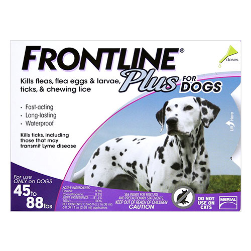 Frontline Plus Large Dogs 45-88 lbs (Purple) 12 Doses