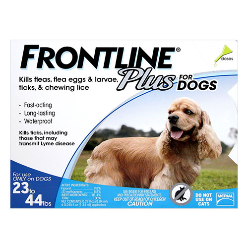 Frontline Plus Medium Dogs 23-44 lbs (Blue) 6 Doses