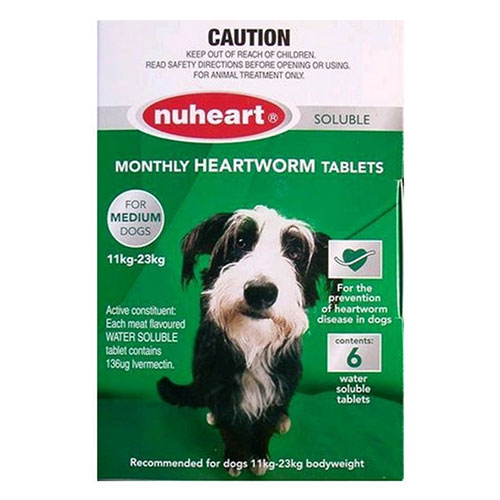 Nuheart - Generic Heartgard Nuheart Medium Dogs 26-50lbs (Green)