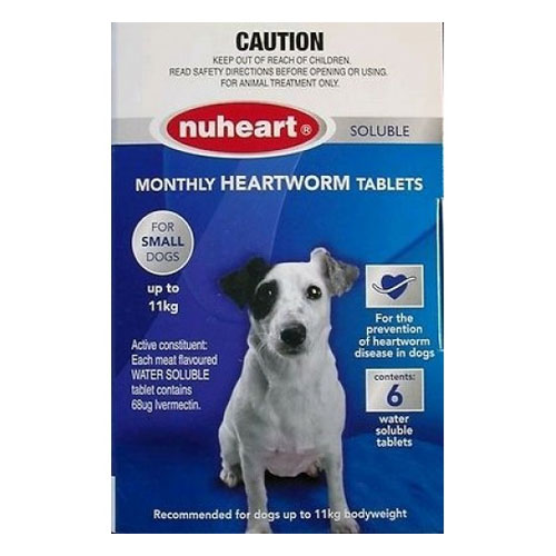 Nuheart - Generic Heartgard Nuheart Small Dogs upto 25lbs (Blue)
