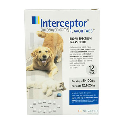 Interceptor Dogs 51-100 lbs (White) 3 Chews