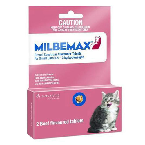 Milbemax Cats upto 2Kg