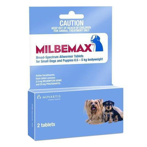 Milbemax Small Dog Under 5 Kgs