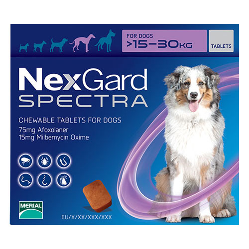 Nexgard Spectra for Large Dogs 33-66 lbs Purple