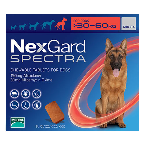 Nexgard Spectra for Xlarge Dogs 66-132 lbs Red