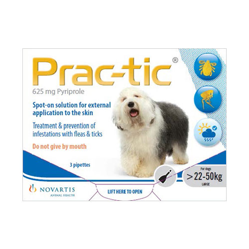 Prac-tic Spot On for Large Dog: 50-110 lbs (White) 3 Pack