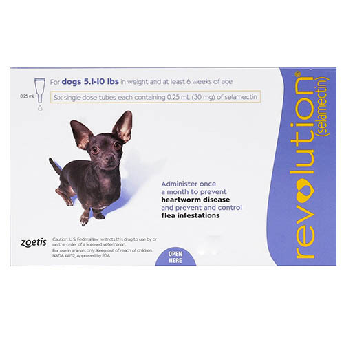 Revolution Very Small Dogs 5.1-10 lbs (Purple) 12 Doses